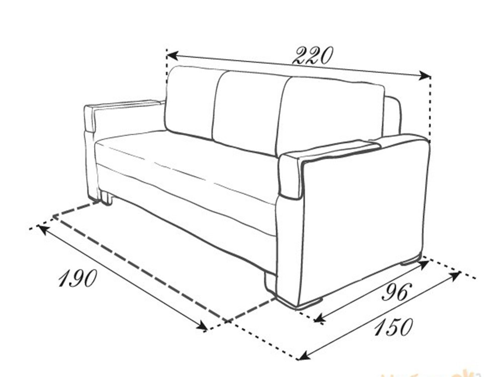 Не раскладной диван чертежи
