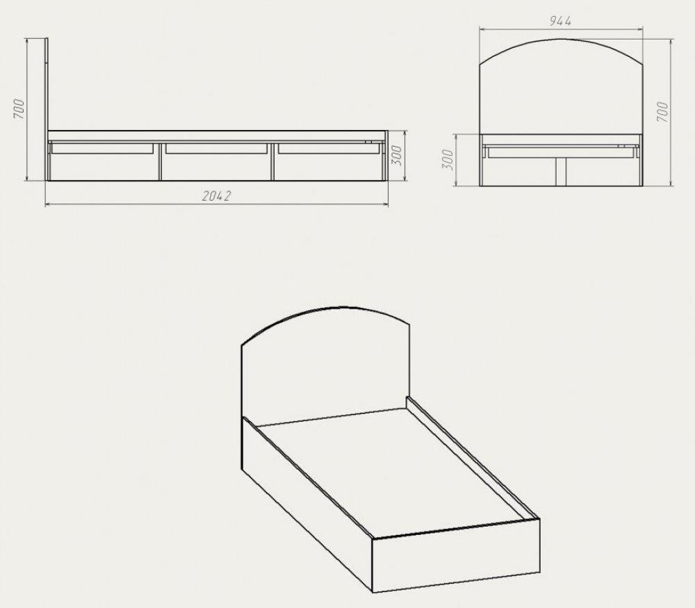 Схема 2-х спальной кровати