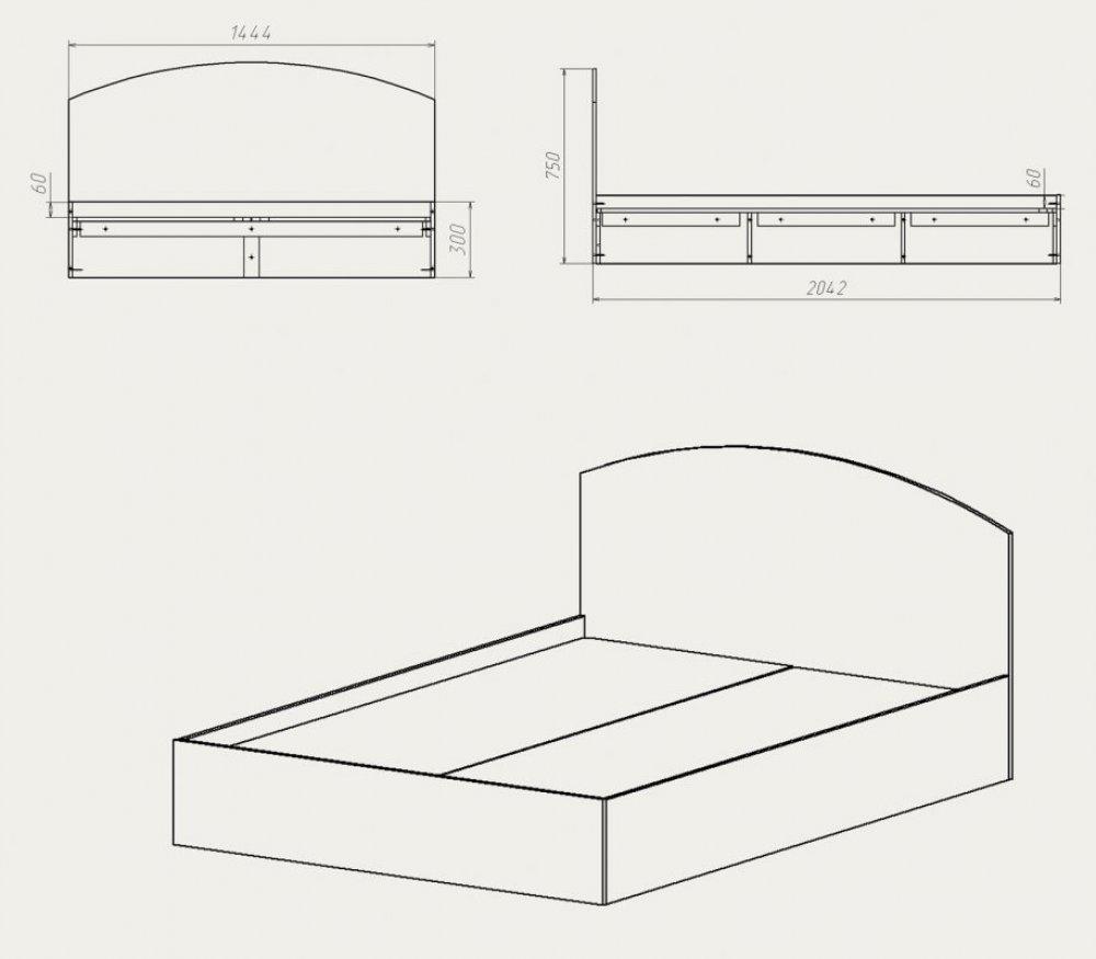 Сделать кровать чертежи видео