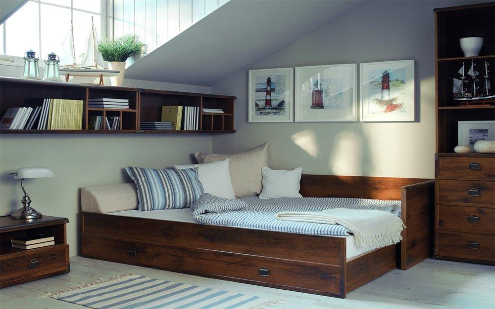Мебель в спальню в стиле лофт - это практично